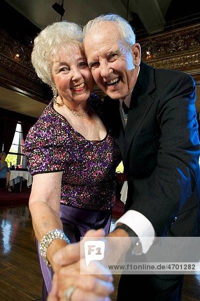 A couple on the dance floor.