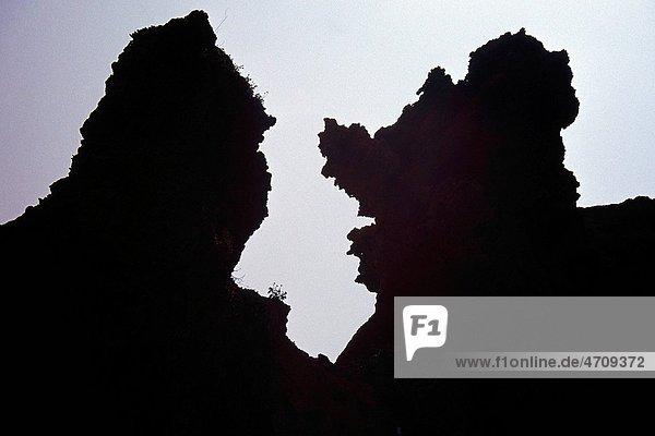 Rock dog shape near at Saurashtra in Gujarat   India