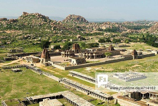 Aerial view of Vithala temple in 16th century   Hampi   Karnataka   India
