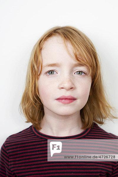 Portrait  Mädchen  rothaarig