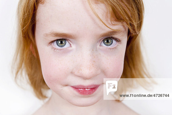 Red-haired girl  portrait