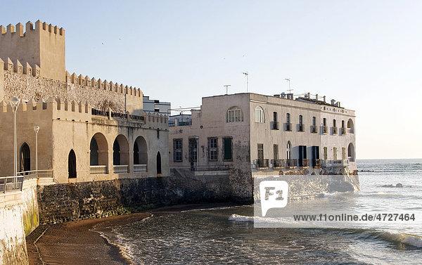Haus am Meer in der andalusischen Stadt Chipiona  Spanien  Europa