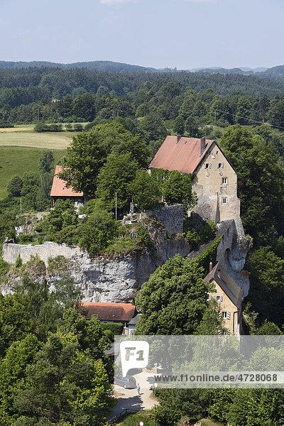 Burg Pottenstein,  Fränkische Schweiz,  Fränkische Alb,  Oberfranken,  Franken,  Bayern,  Deutschland,  Europa