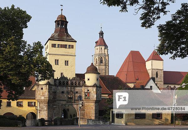 Ellinger Tor  Weißenburg in Bayern  Mittelfranken  Franken  Bayern  Deutschland  Europa