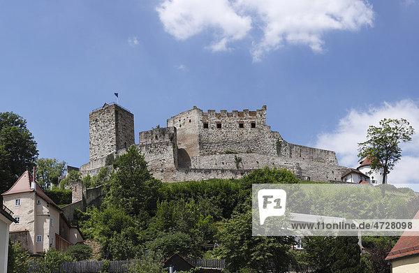 Burg Pappenheim  Altmühltal  Mittelfranken  Franken  Bayern  Deutschland  Europa
