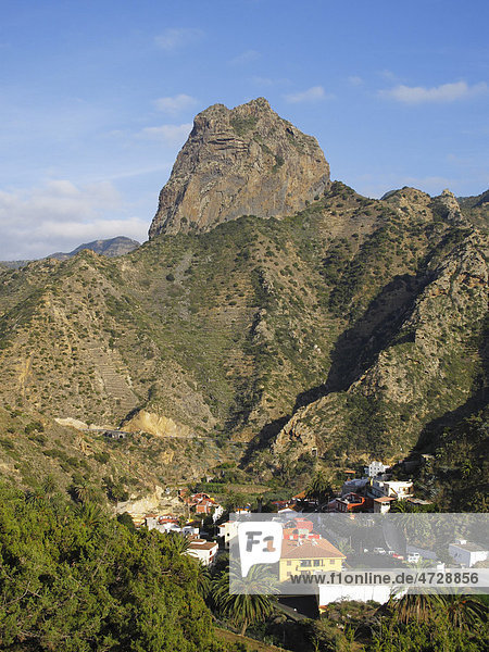 Berg Roque Cano  Vallehermoso  La Gomera  Kanaren  Spanien  Europa