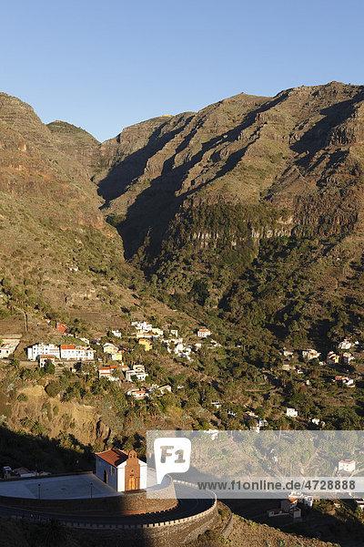 Kirche San Antonio  Vizcaina  oberes Valle Gran Rey  La Gomera  Kanaren  Spanien  Europa Insel La Gomera