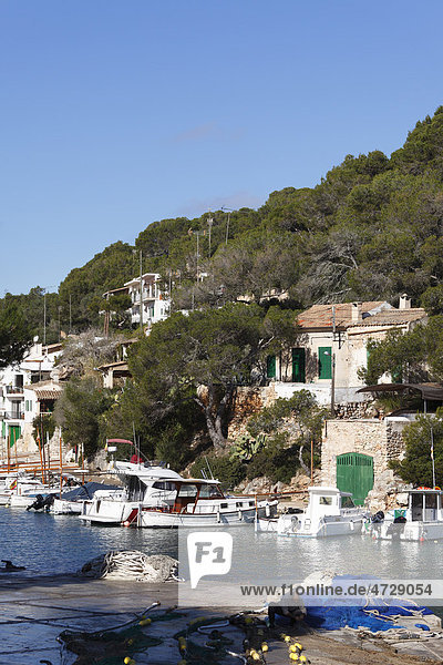 Port in Cala Figuera  Santanyi  Majorca  Balearic Islands  Spain  Europe