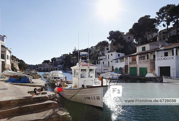 Port in Cala Figuera  Santanyi  Majorca  Balearic Islands  Spain  Europe