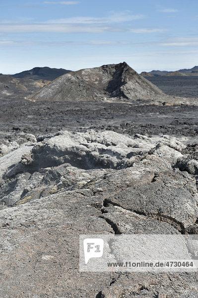 Erkalteter Lavastrom,  Vulkanismus,  Krater,  Caldera Krafla,  M_vatn-Region,  Myvatn,  Õsland,  Island,  Skandinavien,  Nordeuropa,  Europa