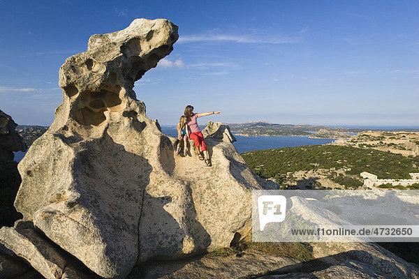 Rock formation at Capo d'Orso  Bay of La Maddalena  Sardinia  Italy  Europe