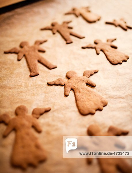 Close-up of angel shaped gingerbread