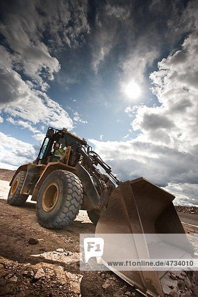 Untersicht der bulldozer