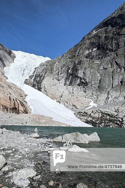 Briksdalsbreen-Gletscher  Norwegen  Skandinavien  Europa