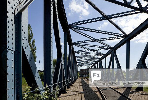 Travehafenbrücke  Hamburg  Deutschland  Europa