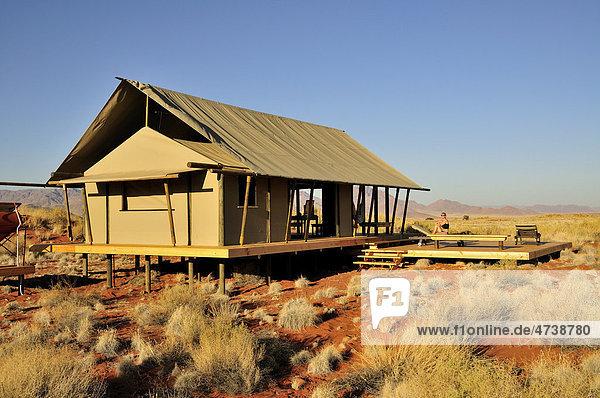 Chalet des Wolwedans Dune Camp im Namib Rand Nature Reserve  Namib-Wüste  Namibia  Afrika