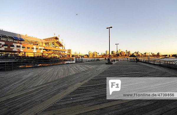 South Street Seaport  Pier 17  Manhattan  New York City  New York  USA  North America