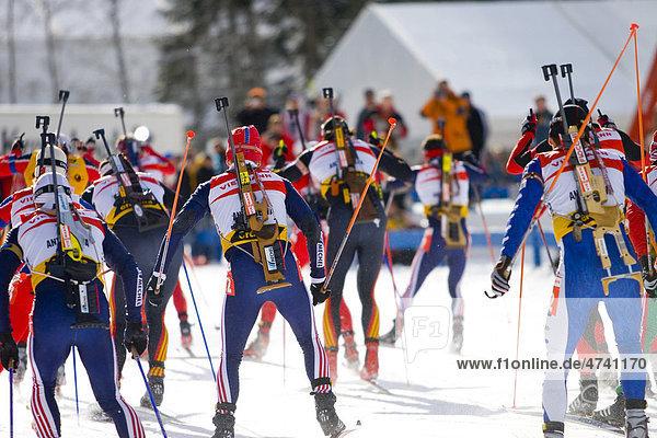 Biathlon Weltcup  Antholz  Südtirol  Italien  Europa