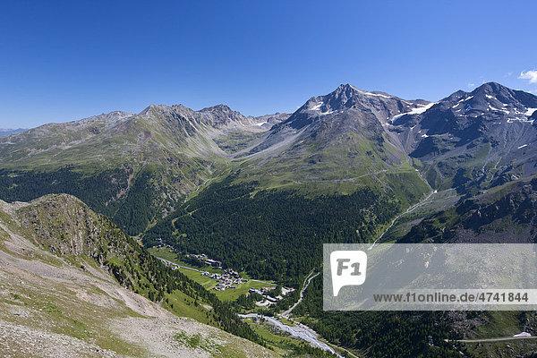 Bergdorf Sulden  Naturpark Stilfser Joch  Südtirol  Italien  Europa