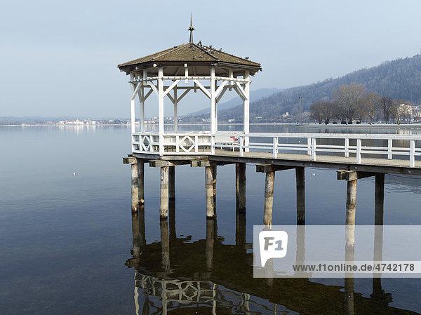 Pavillon im Bodensee  Bregenz  Österreich  Europa Pavillon im Bodensee, Bregenz, Österreich, Europa