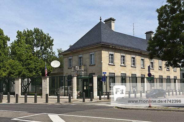 Amerikanische Botschaft  Straßburg  Elsass  Frankreich  Europa