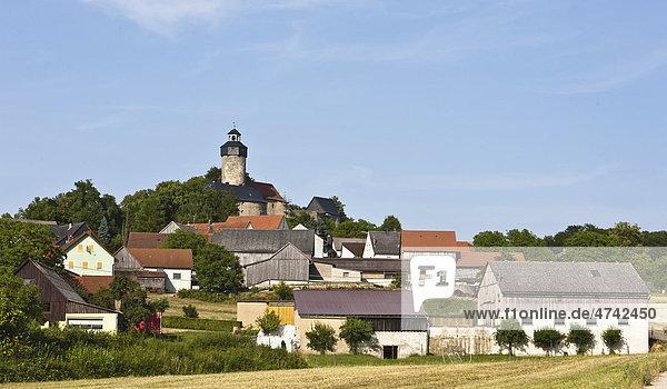 Blick auf Burg Zwernitz  Sanspareil  Oberfranken  Franken  Bayern  Deutschland  Europa