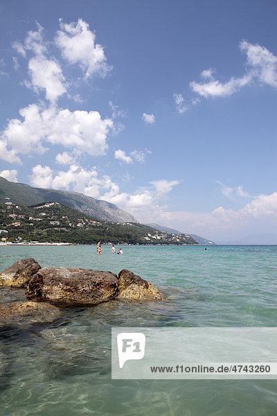 Küste  Ipsos  Korfu  Griechenland  Europa