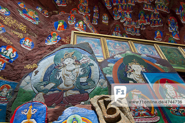 The Blue Buddha in Lhasa  Tibet  Asia