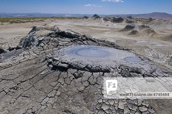 Mud volcanoes in Azerbaijan  Middle East