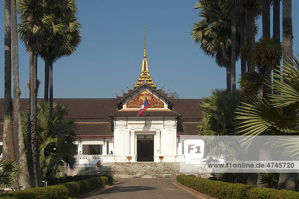 Hauptportal  Museum Königspalast Ho Kham  Luang Prabang  Laos  Südostasien  Asien