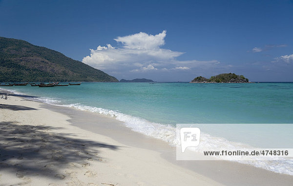 An empty Andaman beach  Ko Lipe island  Tarutao Marine National Park  Thailand  Asia