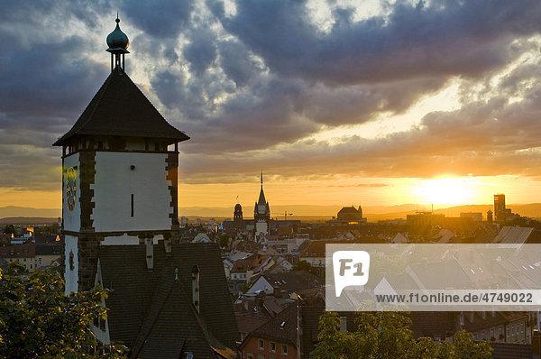 Panorama  Altstadt  Freiburg im Breisgau  Baden-Württemberg  Deutschland  Europa