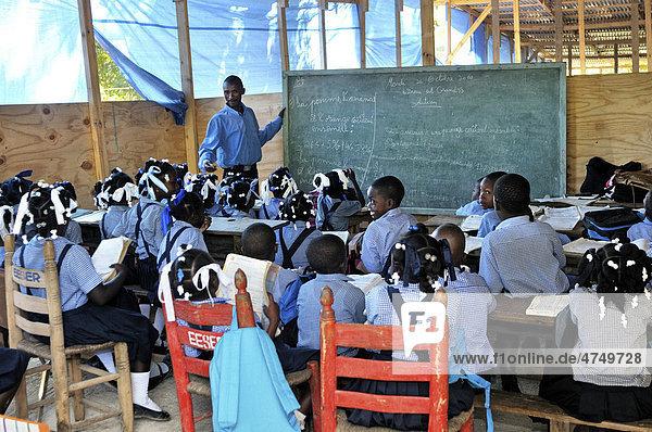 School in Leogane  Haiti  Caribbean  Central America