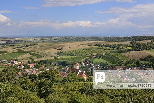 Blick auf den Ort  Falkenstein  Niederösterreich  Österreich  Europa