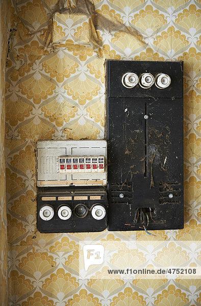 Alte Stromsicherung  Sicherungskasten
