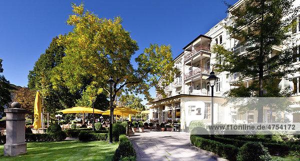 Hotel Atlantic mit Gartencafe  Baden-Baden  Baden-Württemberg  Deutschland  Europa