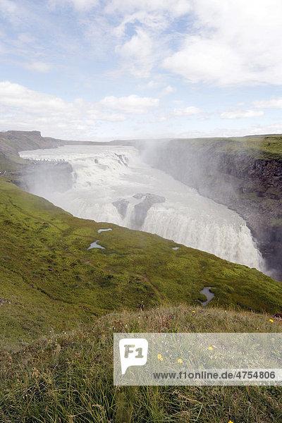 Gullfoss waterfall  Golden Circle  Iceland  Europe