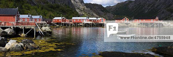Museum Village of Nusfjord  Flakstadoya  island of Vestvagoya  Lofoten  Norway  Scandinavia  Europe
