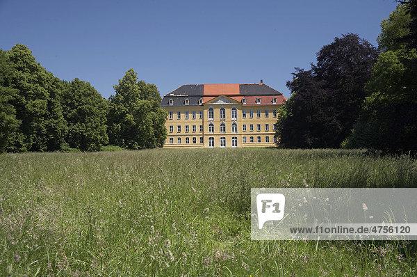 Schloss Nischwitz  Parkseite  bei Wurzen  Sachsen  Deutschland  Europa