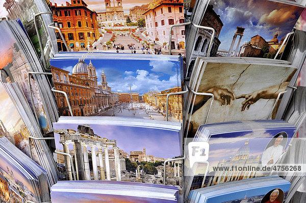 Postkarten mit römischen Motiven  Rom  Latium  Italien  Europa