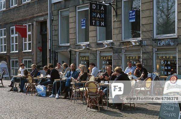 Restaurant am Gammel Strand in Kopenhagen  Dänemark  Europa