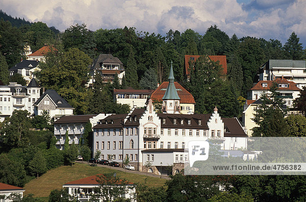 Blick vom Neuen Schloss in Baden-Baden  Baden-Württemberg Deutschland  Europa