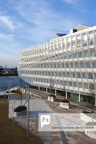 Unilever-Haus  Energiesparhaus  erbaut vom Architekturbüro Behnisch  Strandkai 1  Hamburg  Deutschland  Europa