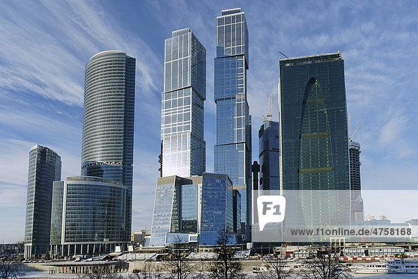 Wolkenkratzer  Federation Komplex  Moskau City  Moskau  Russland