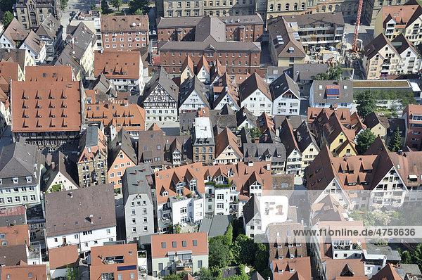 Blick vom Ulmer Münster auf die Altstadt  Ulm  Baden-Württemberg  Deutschland  Europa