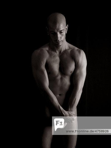 Mann  muskulös  nackt  Körper  glatzköpfig Mann, muskulös, nackt, Körper, glatzköpfig