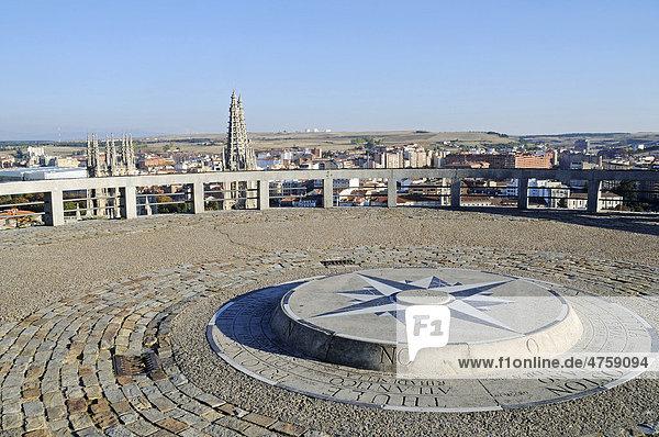 Mirador del Castillo  Aussichtsplattform  Burgberg  Burgos  Provinz Kastilien Leon  Spanien  Europa