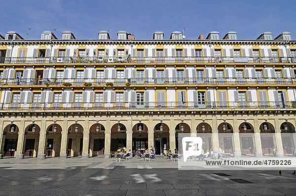 Plaza de la Constitucion  San Sebastian  Pais Vasco  Basque Country  Spain  Europe