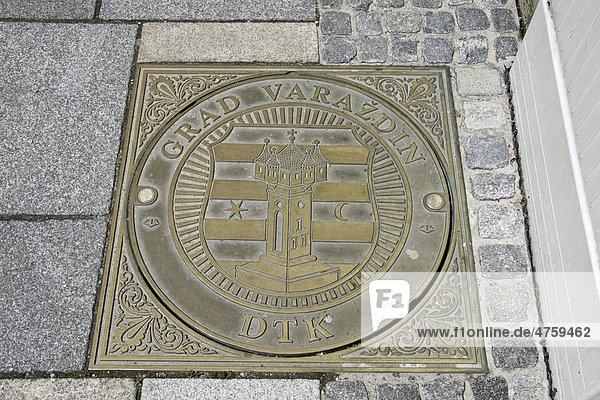 Wappen  Stadt Varazdin  Kroatien  Europa