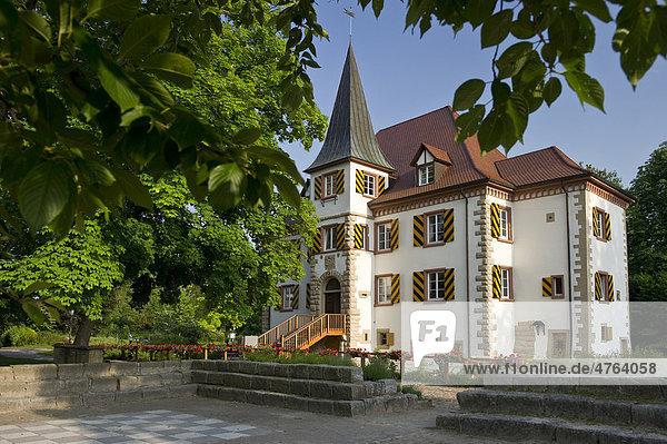 Wasserschloss Entenstein in Schliengen  Markgräflerland  Baden-Württemberg  Deutschland  Europa